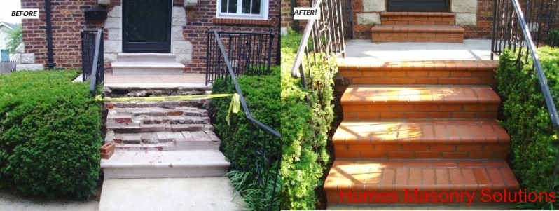 St. Louis Brick Steps Clayton, MO Before and After