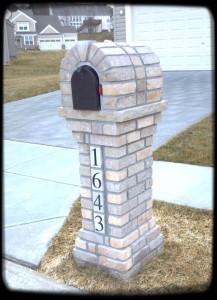 Brick mailbox bulit in St. Louis County - Eureka, MO.