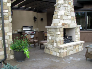 Stone Outdoor Fireplace St. Louis, MO