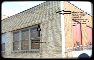 St. Louis Steel Lintel Repair Indication
